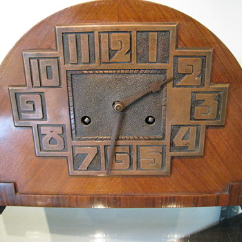 c. 1920's Art Deco Bauhaus Clock #1