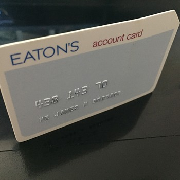 The T. EATON Co Limited, Winnipeg Account Card - Advertising