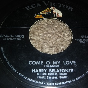 Harry Belafonte...On 45 RPM Vinyl - Records