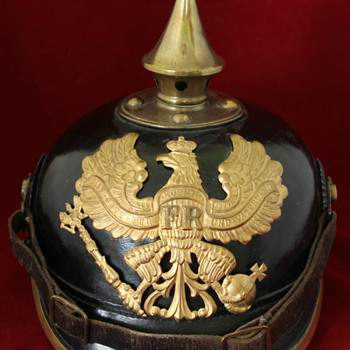 Prussian Enlisted spiked helmet dated 1915 - Military and Wartime