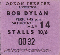 Odeon Theater Liverpool Bob Dylan
