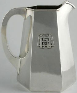 kalo pitcher with monogram
