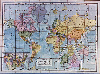 Piecing together the history of jigsaw puzzles collectors weekly new dissected map of world ca 1888 gumiabroncs Images