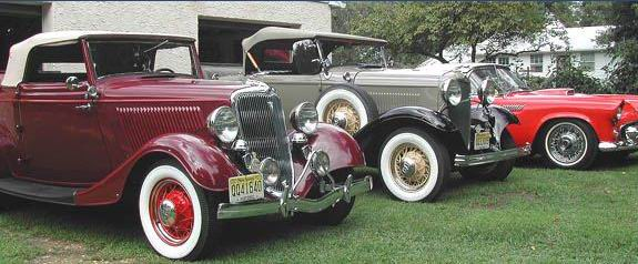 1934 Ford Cabriolet 1932 Ford V8 Deluxe Roadster and another Ford V8 Model & Sam Baker Collector of Petroliana and Vintage Ford Cars and Signs ... markmcfarlin.com