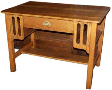 Oak Arts & Crafts Mission desk