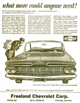 What More Could Anyone Want? 1959 Chevy Ad