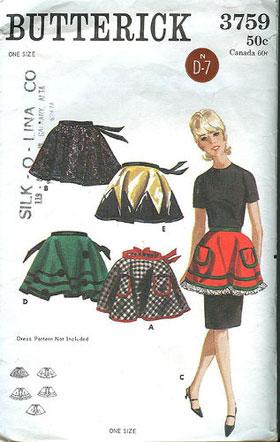 Butterick vintage apron pattern
