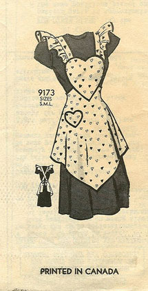 Vintage apron pattern printed in Canada