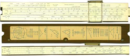K&E 4108 Military Slide Rule c1950 Made in U.S.A. for the US Army