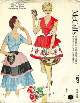 McCalls vintage apron pattern
