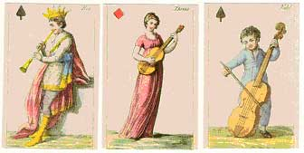 1981 Fascimile of Johann Hieronymus Loschenkohl's 1806 Musical Playing Cards
