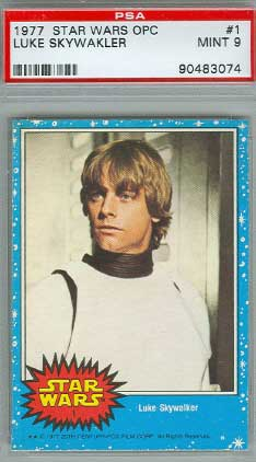 1977 Luke Skywalker card