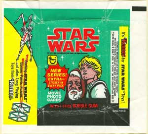Star Wars US gum wrapper