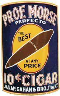 Prof Morse Perfector 10c cigar sign c. 1915