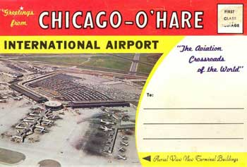 1962 Cicago O'Hare postcard