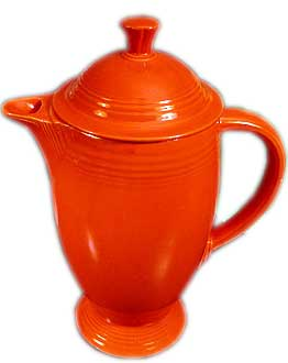 Fiesta Coffe Pot - Made in all colors except medium green and was in production form 1936 until the middle of 1956 . The coffee pot was reintroduced in 1969 in ironstone and amberstone.