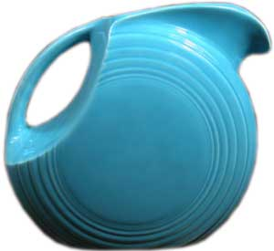 Vintage Fiesta Disk Water Pitcher: Molds designed by Frederic Rhead in the 1930s