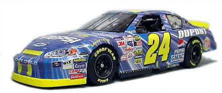 """Jeff Gordon's 2005 """"STAR WARS"""" Monte Carlo NASCAR. Out of the box Revell NASCAR Monte Carlo kit with my decals, Some modifications for realism to dashboard."""