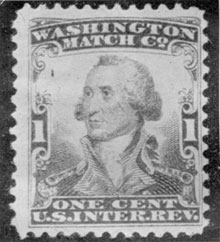 A Washington Portrait: The one cent stamp was the obvious design for the Washington Match Company.
