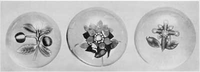 ILLUSTRATION I: Typical Paperweights Made by Nicholas Lutz at Sandwich