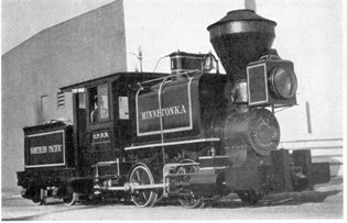 The Historic Minnetonka, 1869: Built for the Northern Pacific Railway, probably by H. J. Porter & Co., Pittsburgh, Pa. She was discovered recently in a lumber camp in the State of Washington.