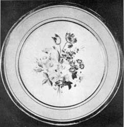 4. Paris porcelain plate, part of a dinner service of the type used by Irving. Said to have been made at Au Paradis factory in the 1830s.