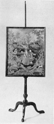 Revere's Firescreen: This mahogany piece of American Chippendale with needle-point panel once belonged to Paul Revere and is a fine example of Massachusetts cabinetmaking