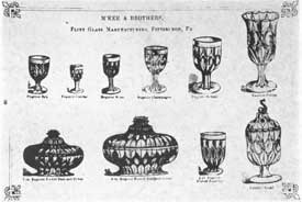 The Eugenie Pattern of the 1850's: The page also from an old M'Kee & Brothers catalogue shows the variety of pieces that they made in this pattern. Note the dolphin finial on the covered sugar bowl at the lower right.