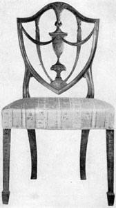 2. Hepplewhite sidechair made in Salem.