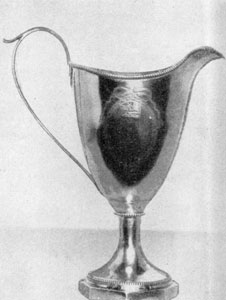 Coffee service bearing the touchmark of William Faris' son, Charles Faris (1761-1800). This is the only known silver that shows his touch.