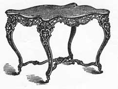 Charming A Parlor Table Of Cast Iron: The Frame Was Painted To Simulate Rosewood And
