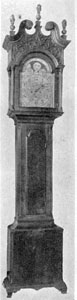 Bachman Clock in the Flayderman Sale: The dial was a replacement of about 1876 and the maker's name spelled C & D Farrar instead of C & D Forrer.