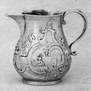 George I cream jug, 1721-1723, Anthony Nelme, London.
