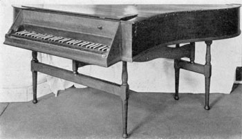 Stiegel's Own Harpsichord: He was not only a musician himself, but also organized an orchestra of his workmen.