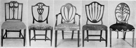 Hepplewhite Chairs As Made In America: No. 1, Probably Made In Baltimore,