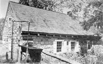 Jacob Huber's House at Elizabeth Furnace: It was built about 1725. Elizabeth Huber was Stiegel's first wife. He lived here for several years.