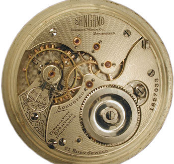 A short history of the american antique pocket watch collectors weekly the illinois watch co sangamo movement aloadofball Choice Image