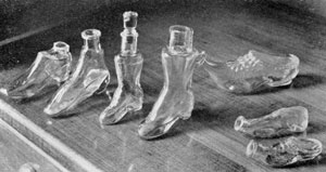 Illustration II: Made Originally as Perfume Bottles: Shaped like Dutch wooden sabots and high shoes, they are much smaller than are usually to be found.