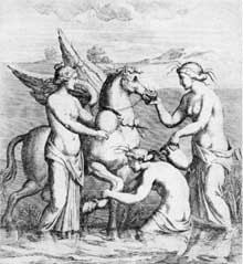 10. Illustration from Bartoli's engravings of Roman tomb paintings.