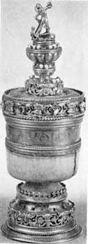 2. The Howard Grace Cup, a Tudor example made in London 1525-26.