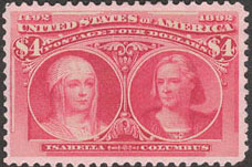$4 Isabella and Columbus Commemorative stamp