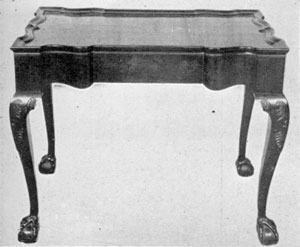 A John Goddard Block-Front Table: Made at Newport, Rhode Island, this mahogany piece has all of the characteristics of the block-front pieces made there by both Goddard and Townsend. In design, it is identical with other documented tables Goddard made originally for members of the Brown family, for whom he also executed superb block-front secretaries.