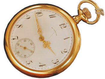 A short history of the american antique pocket watch collectors weekly the mcintyre watch co 12 size pocket watch aloadofball Choice Image