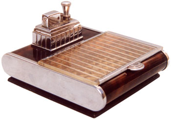 Ronson Touch-Tip with Cigarette Box 1939