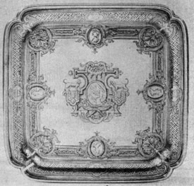 George II salver, 1730-1731, Paul Lamerie, London.