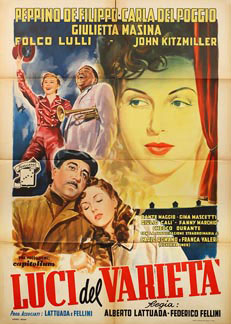 Variety Lights(Luci del varietà) - 1957, Poster nationality: Italian