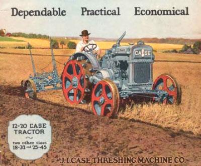Vintage Case Tractor Ad