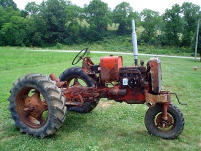 1954 Vac-14 found under a fallen barn - belongs to Fraizer's grandson, Kevin