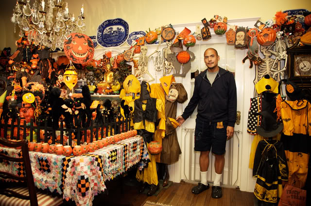 at home with collectors - Old Fashioned Halloween Decorations