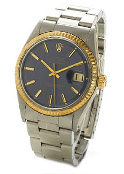 Rolex. A stainless steel and gold automatic centre seconds calendar bracelet watch. 1972.